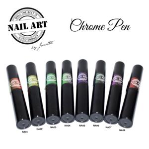 Chrome pen collectie 8 stuks